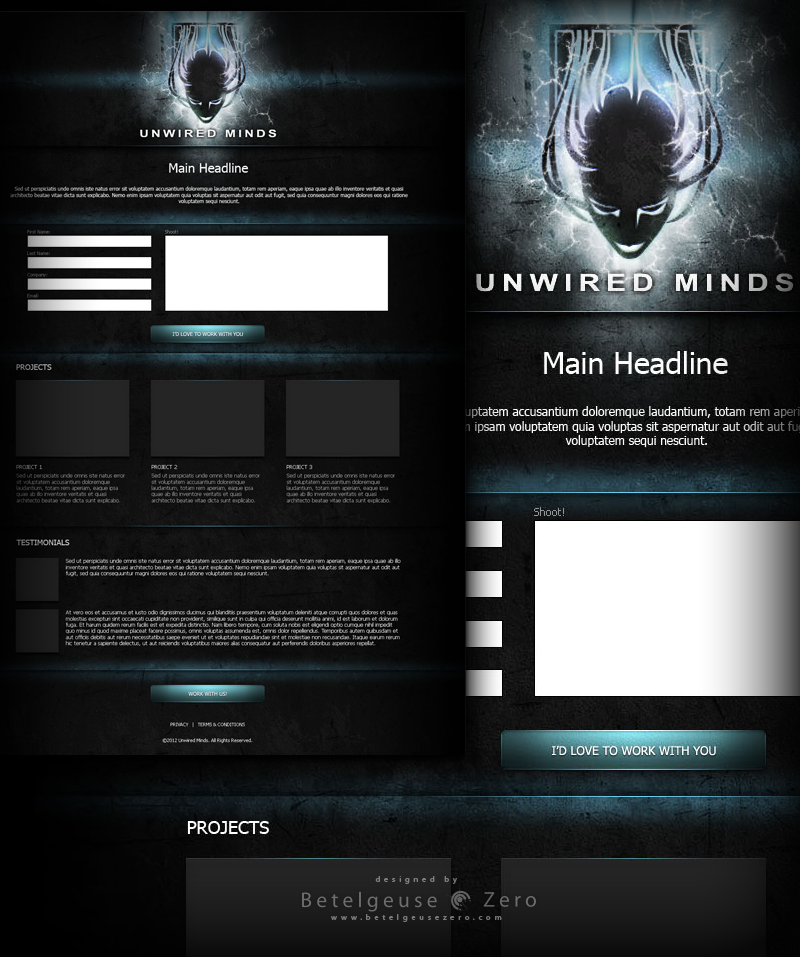 Unwired Minds website design V2