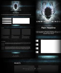 Unwired Minds website design V2