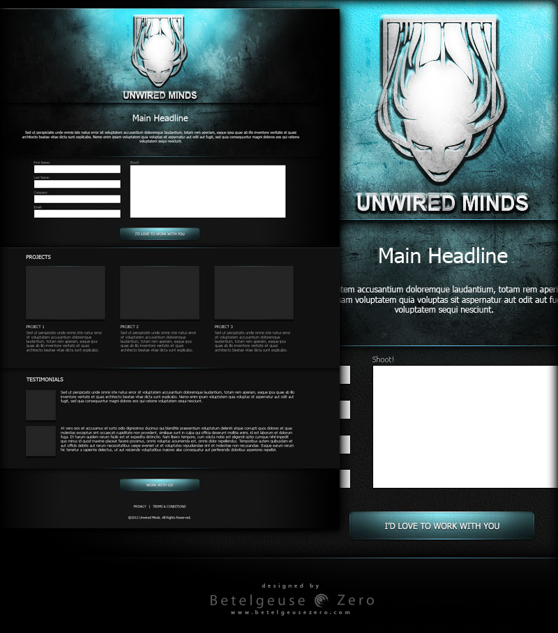 Unwired Minds website design