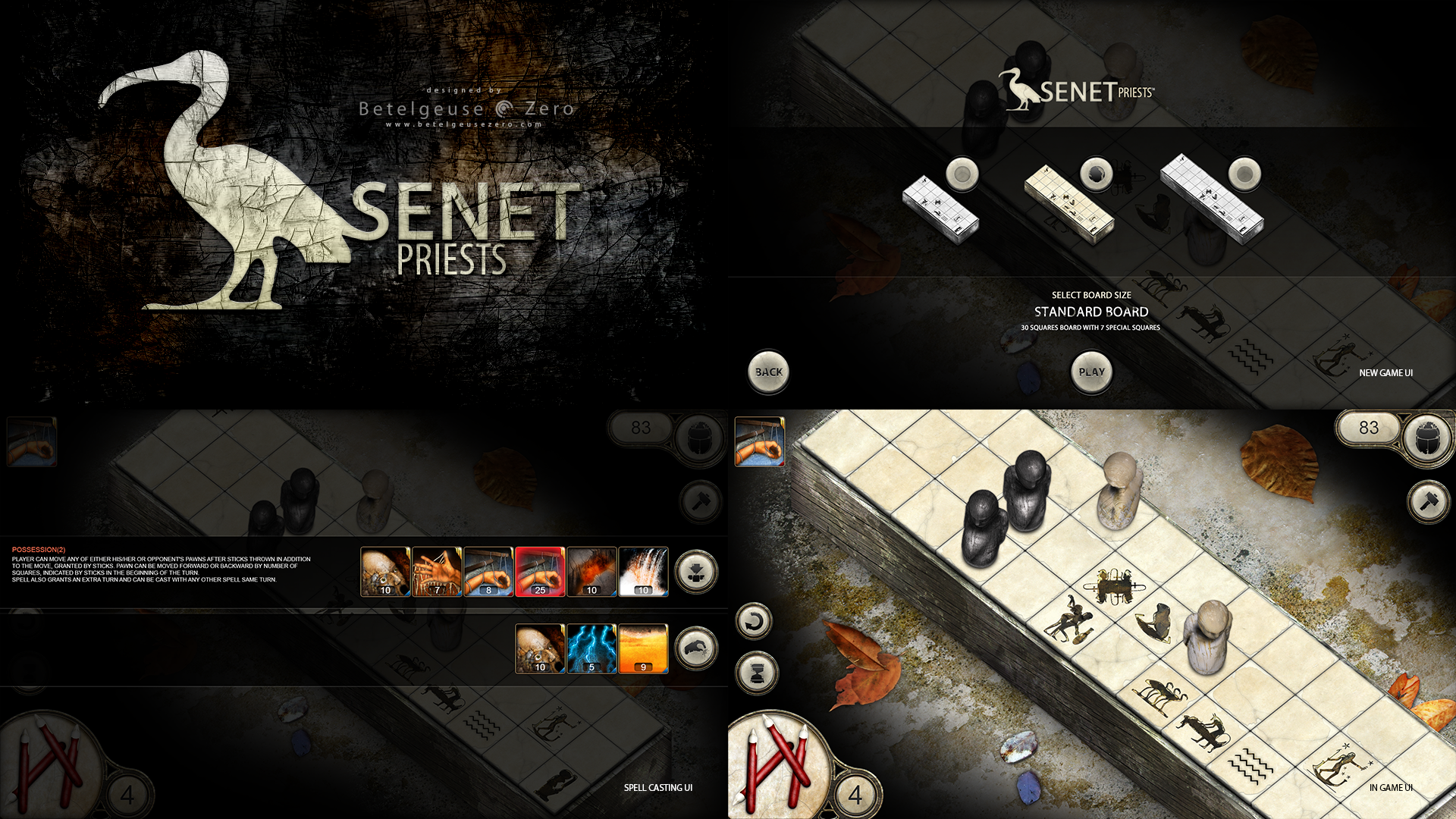 Senet Priests board game