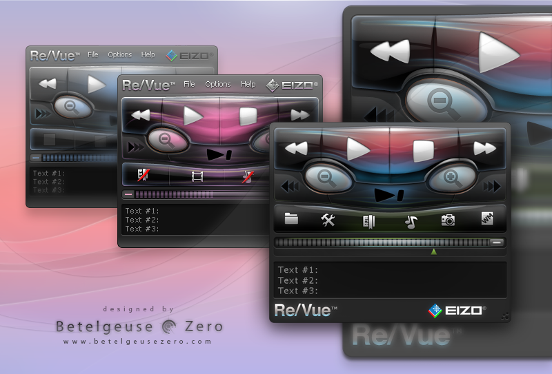 ReVue. Playback application skin
