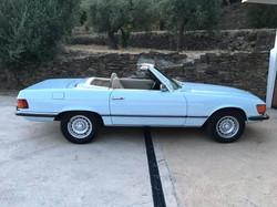Blue Mercedes Side