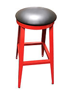 RSS Backless Bar Stool Metal w Vinyl Sea