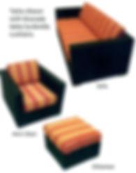 TATTA 3-SEAT SOFA EXPRESSO FLAT WEAVE FR