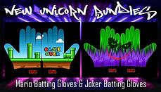 Joker + Mario Batting Gloves