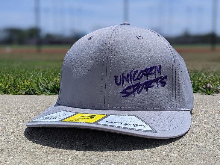 Silver n' Purple Unicorn Hat