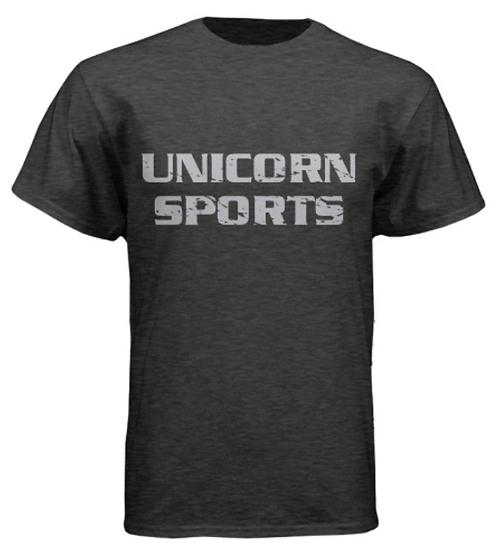 Unicorn Sports Tees - Heather Gray
