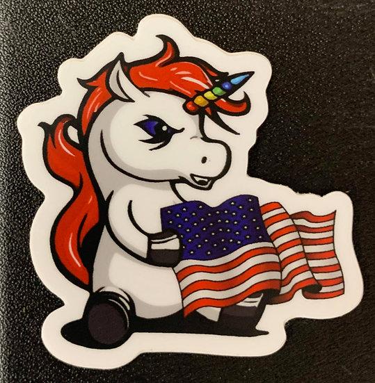USA Unicorn Stickers