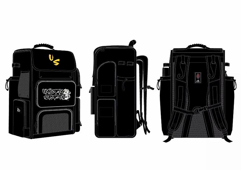 Oversized Unicorn Sports Travel Batpack (Black/Gold)