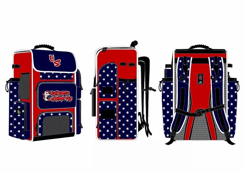 Oversized Unicorn Sports Travel Batpack (Patriotic)