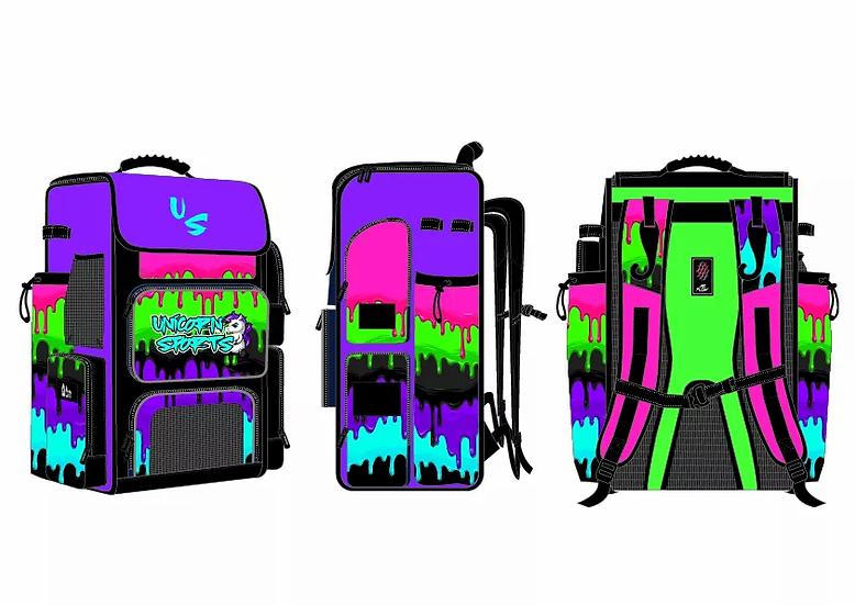 Oversized Unicorn Sports Travel Batpack (Paint Drip)