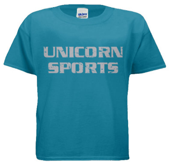 Unicorn Sports Youth T-Shirt - Blue