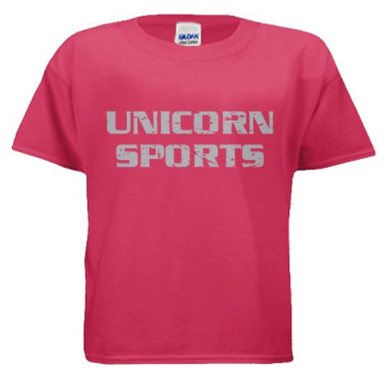 Unicorn Sports Youth T-Shirt - Pink