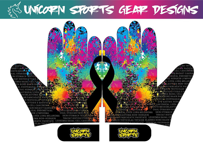 2021 Cancer Sux Batting Gloves