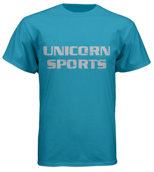 Unicorn Sports Tees - Heather Blue