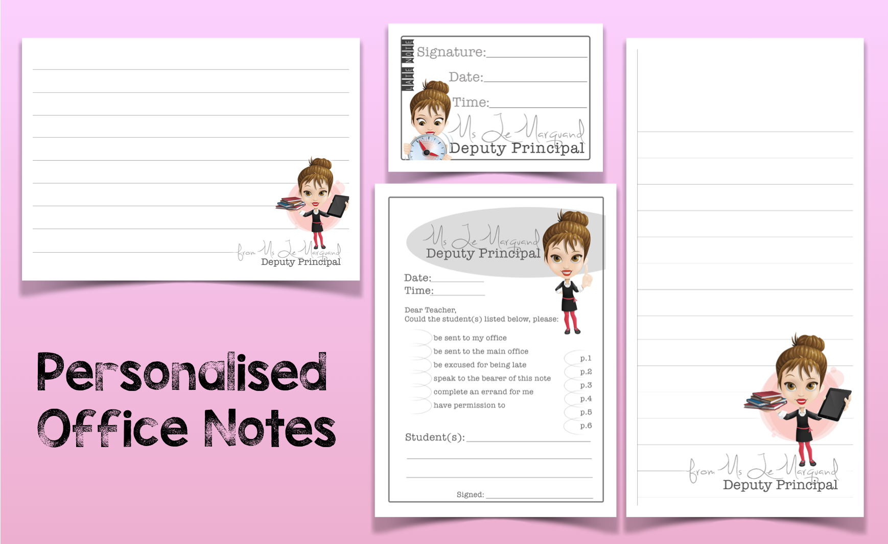 Personalised Office Notes Sets