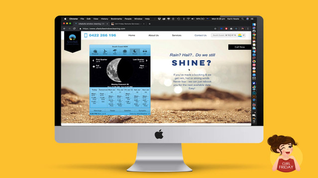Website Design and Tuitition Branding Girl Friday Remote - Ulladulla