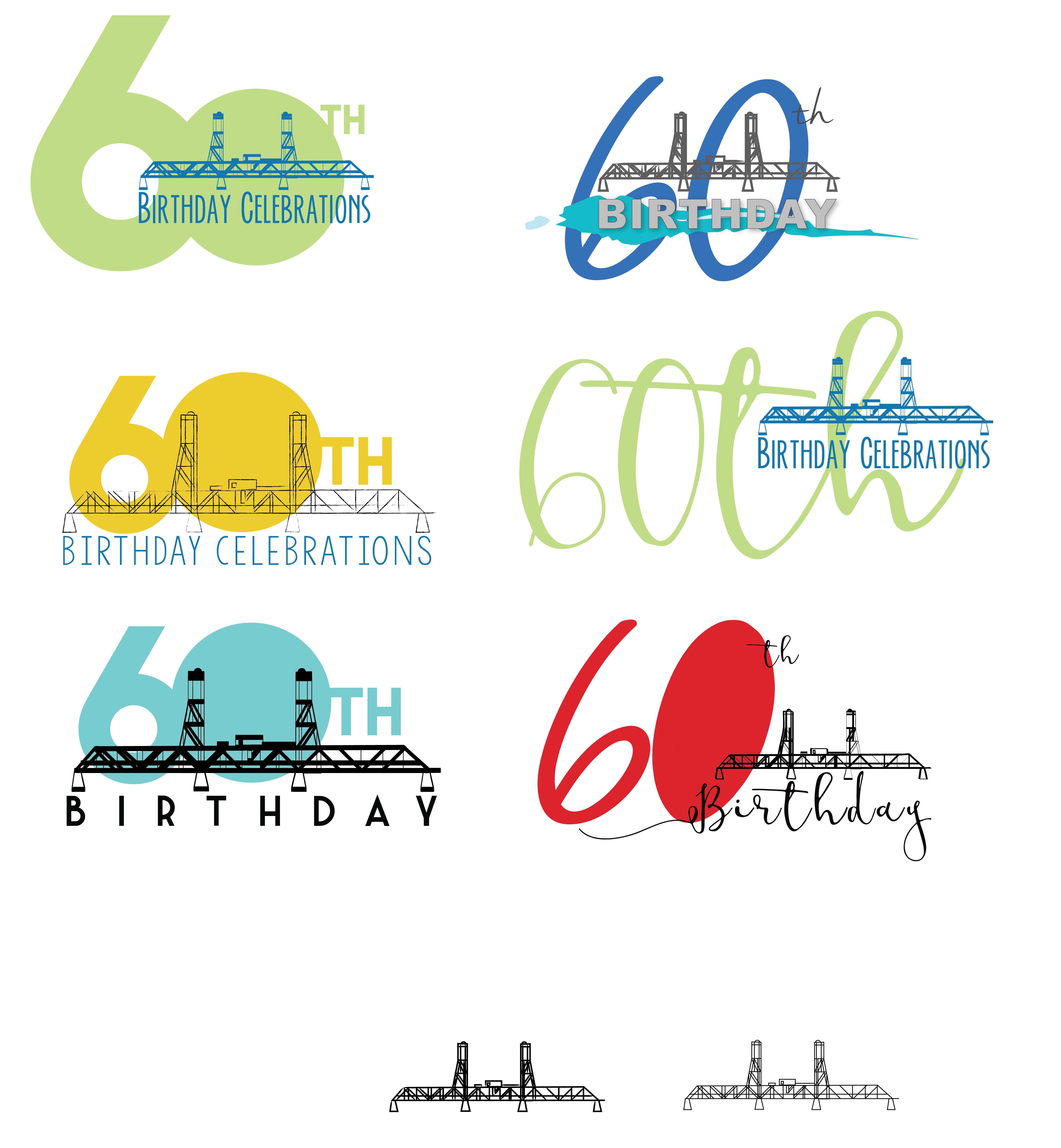 Inititial Roughs - 60th Birthday Batemans Bay Bridge-01