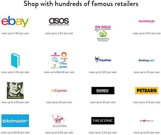 Shopnate retailers