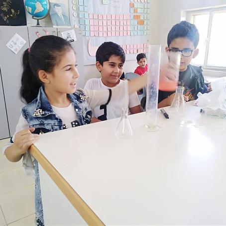 نشاط للصف الثالث للتعرف على حالات المادة