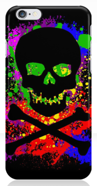 Paint Splatter Skull