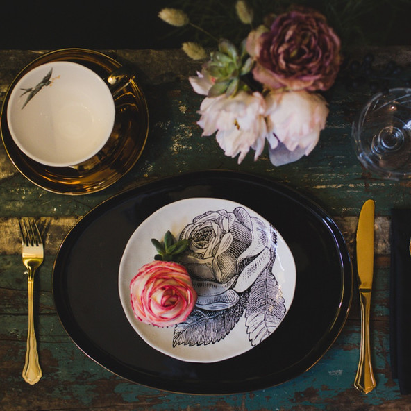 Rockett St George homewares by Cassandra King Flowers and Styling.