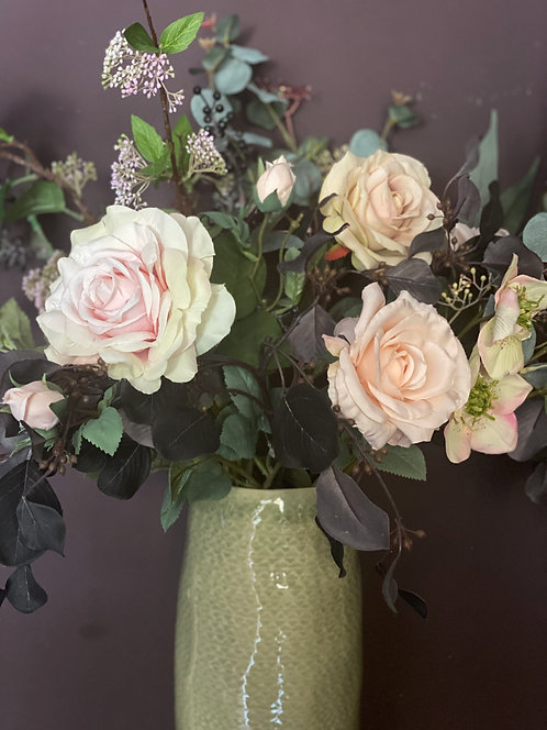 Autumn Rose and Berry Bouquet