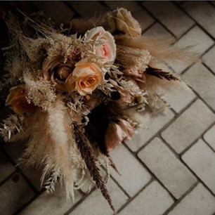 Dried and faux everlasting bridal bouquet