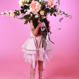 Giant faux flower bouquet.  Immortal Botanica by Cassandra King.