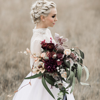 Immortal Botanica bridal bouquet for Rock n Roll Bride