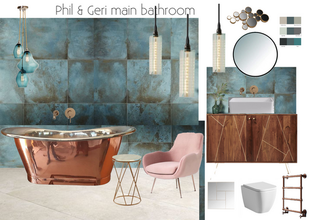 copper bathroom by Cassandra King