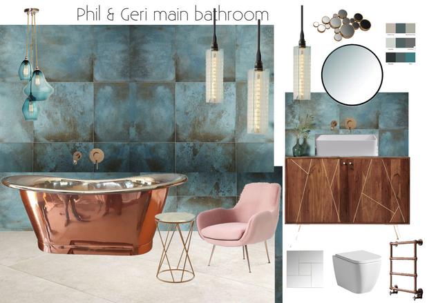 copper bathroom by Cassandra King