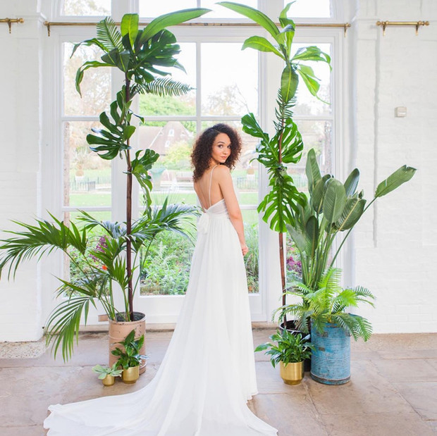Cassandra King Flowers and Styling.  Immortal Botanica.  Tropical and green wedding arch.