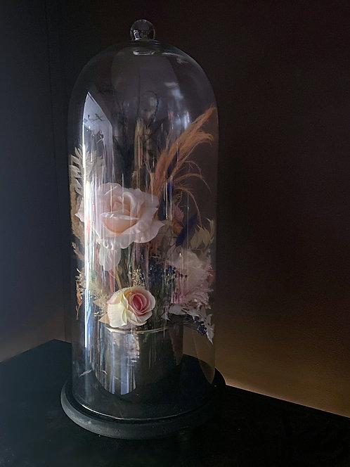 Large Everlasting Floral Bell Jar