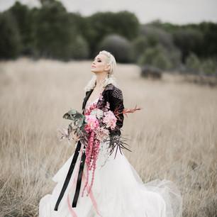 Rock n Roll Bride.  Bouquet Immortal Botanica by Cassandra King