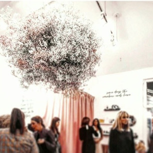 Gypsophilia floral mobile by Cassandra King