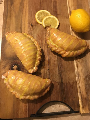 Lemon Pie - Refreshing, light lemon filling is wrapped in a flaky crust and topped with a lemon glaze.