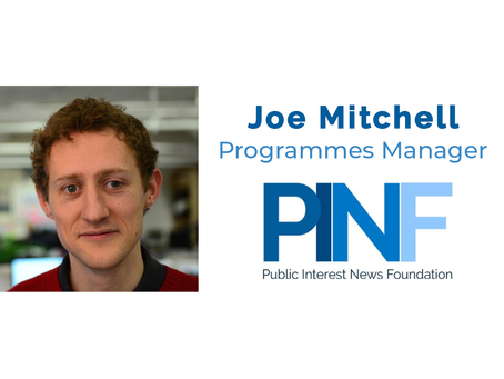 Joe Mitchell joins PINF as Programmes Manager
