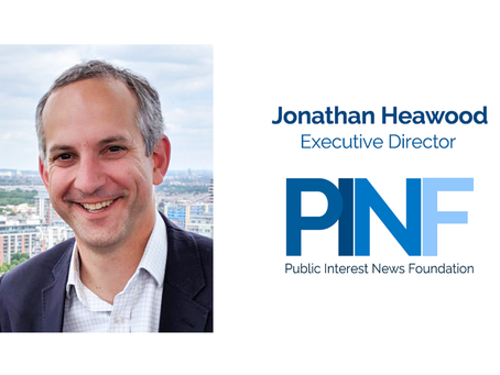 Jonathan Heawood to lead new Public Interest News Foundation to support independent newsmakers