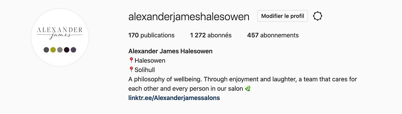 Banner instagram Alexander James Halesowen