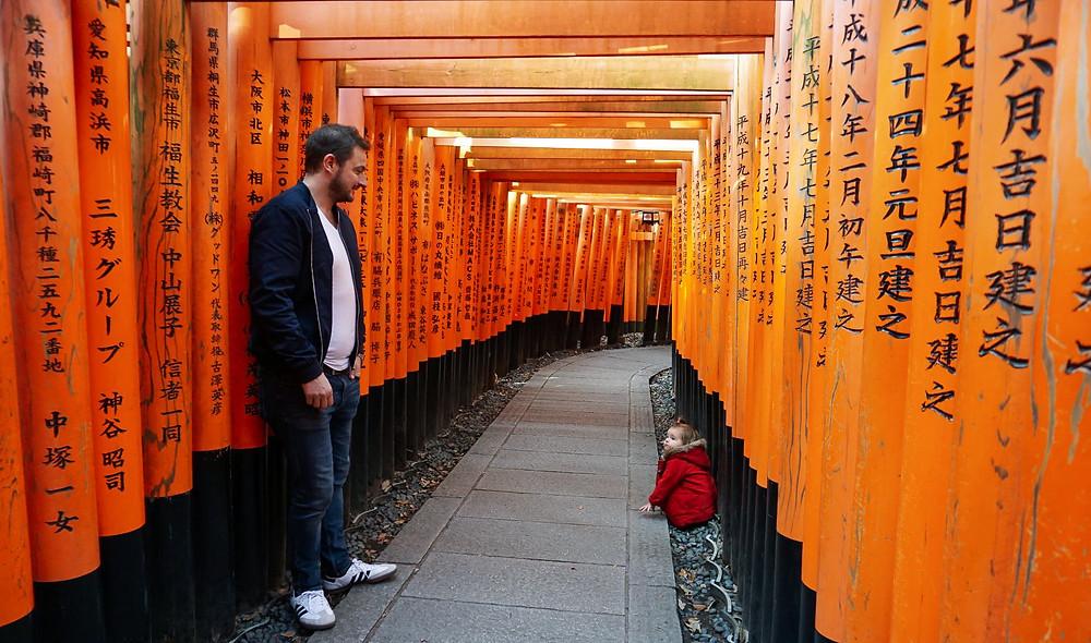 5am wake up Fushimi Inari-taisha Japan Kyoto red jacket