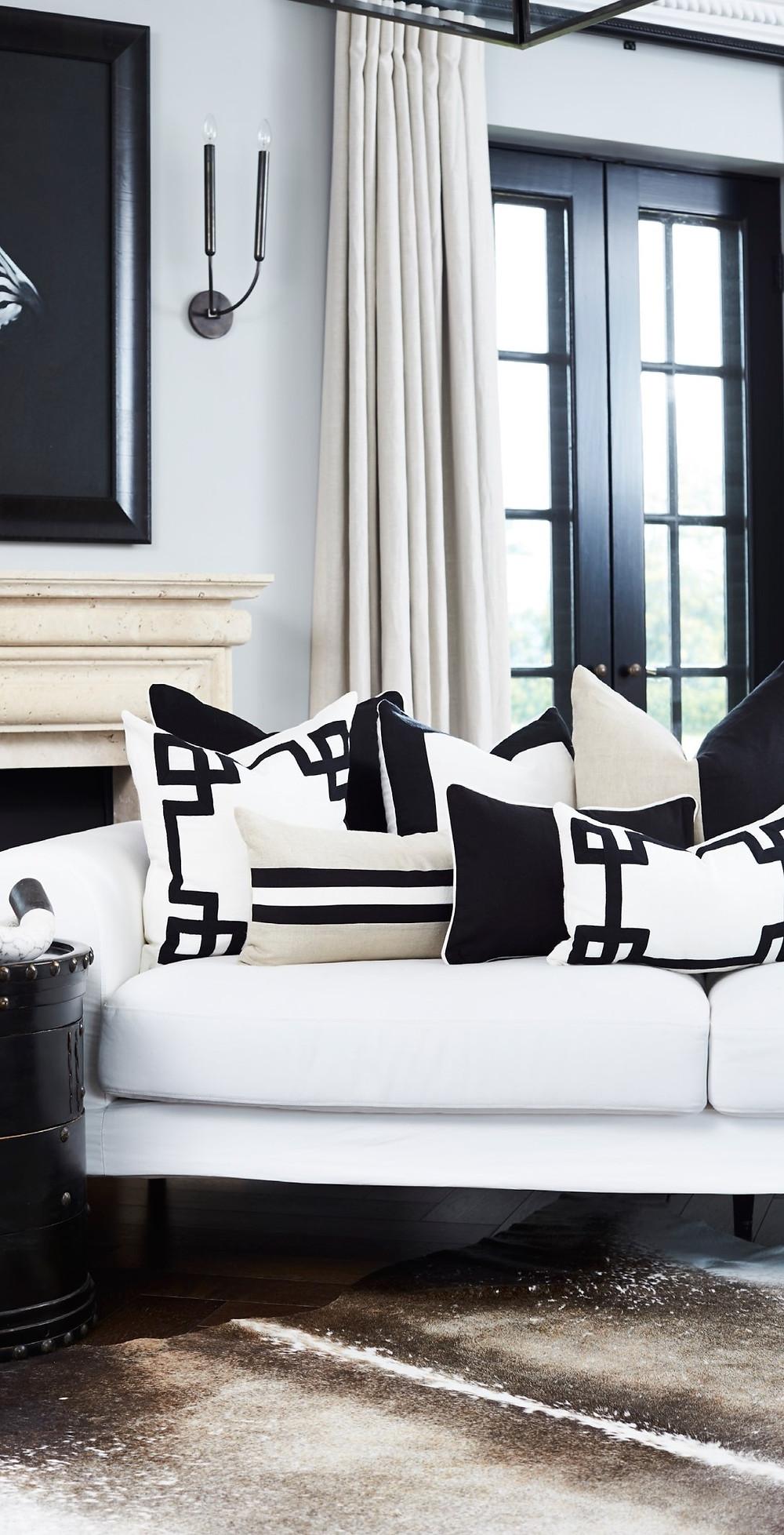 Mediterranian coastal cushions interiors style