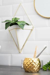 Asos gold triangle geometric wall planter