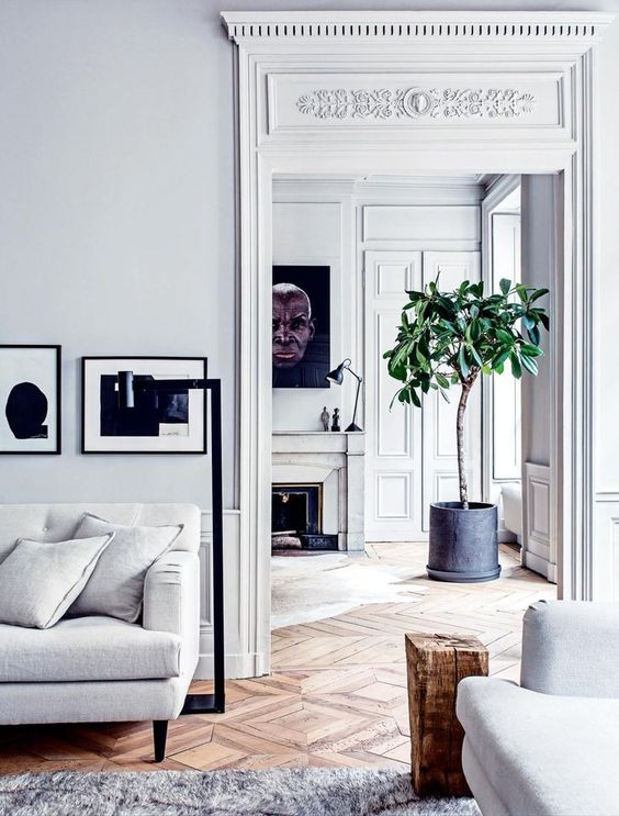 French apartment opposite styles contrast Pierre Emmanuel Martin and Stéphane Garotin in Lyon, France