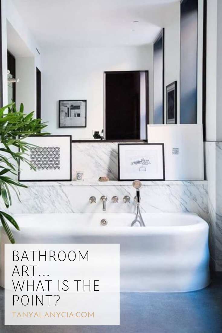 Artwork bathrooms bath marble art serene calm mirror