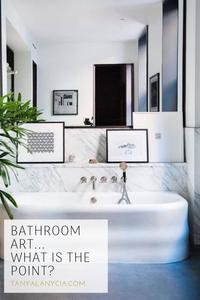 Artwork bathrooms bath marble art serene calm mirror
