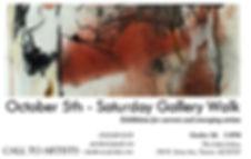 Oct 5th saturday gallery walk show card.