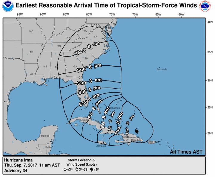 Hurricane Irma Thursday Update: Games Are Moving