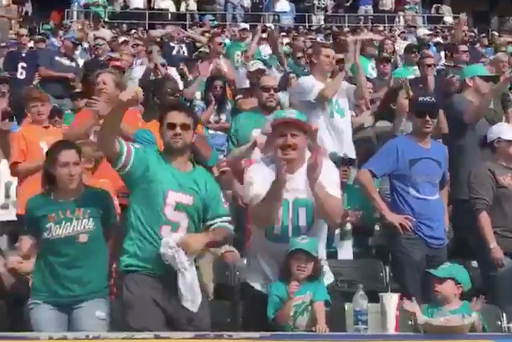 NFL Problems: Dolphin Fans Outnumber Charger Fans in L.A