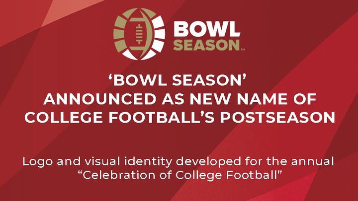 Bowl Season is now called Bowl Season?